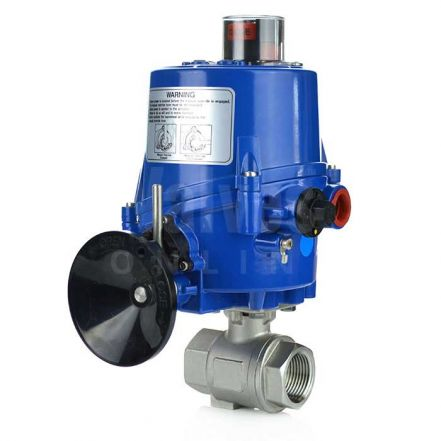 Electric Actuated 2 Piece Screwed Stainless Steel Ball Valve