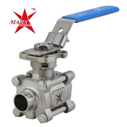 Mars Ball Valve Series 77SN 3 Piece Hygienic OD Weld End