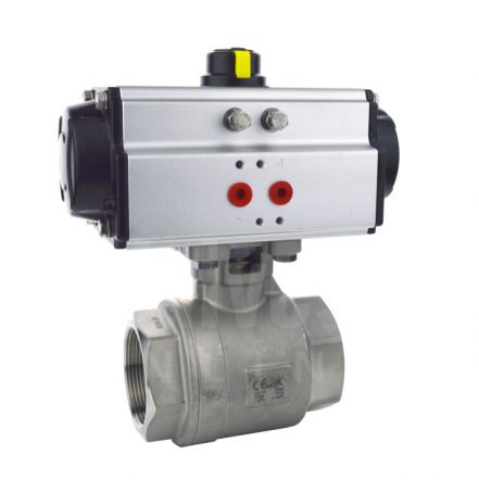 Series 22 Pneumatic Actuated 2 Piece Stainless Steel Ball Valve