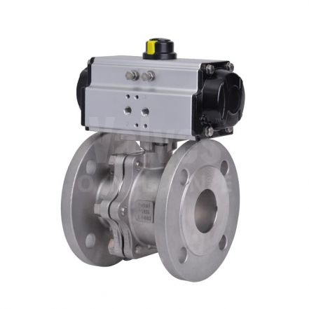 90D Pneumatic Actuated PN40 Stainless Steel Ball Valve