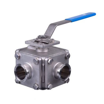 Mars Ball Valve Series 36SN 3 Way Hygienic Direct Mount Tri-Clamp