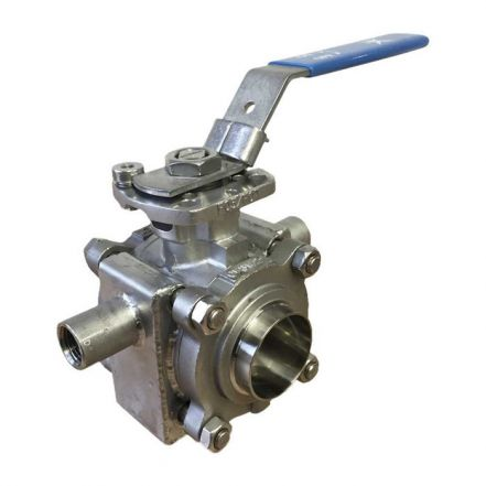 Mars Series 33 Flanged Jacketed Ball Valve