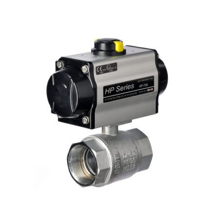 Pneumatic Actuated 2 Piece Stainless Steel Ball Valve