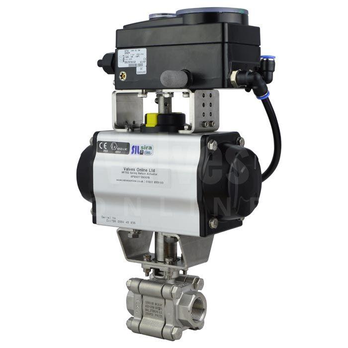pneumatic v sector ball control valve mars select