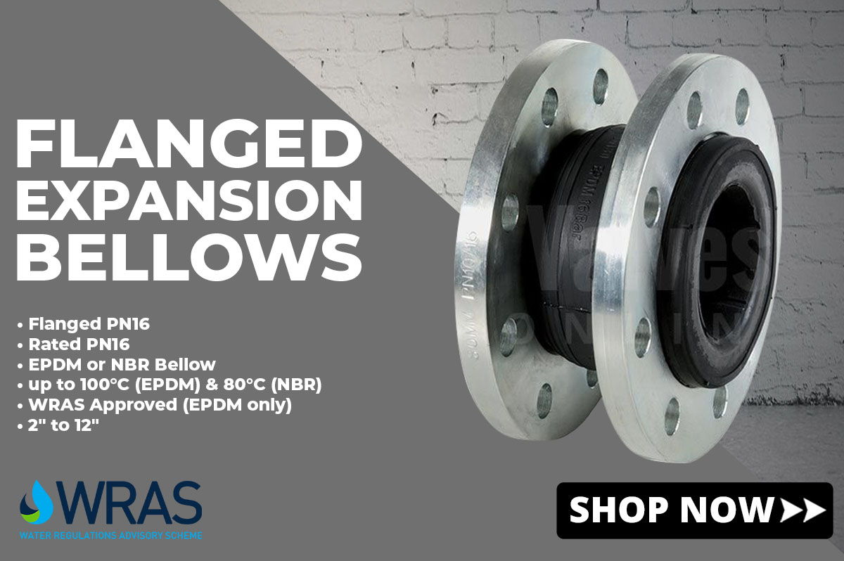 Flanged expansion bellow