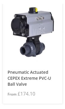 PVC-U Pneumatic Actuated Ball Valve
