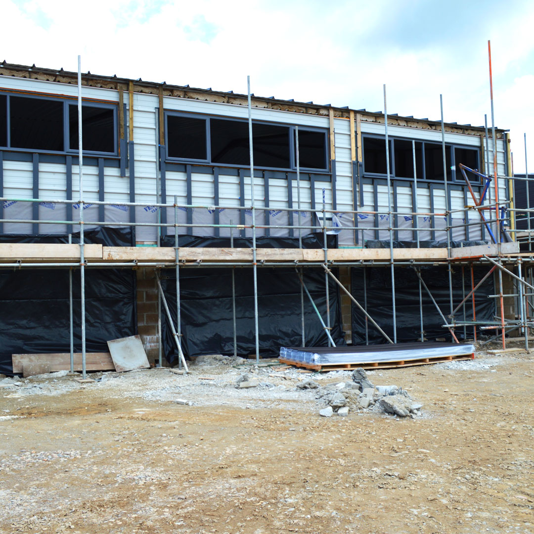 cladding going on